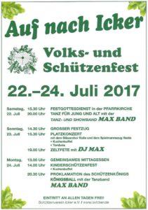 Plakat Schützenfest Icker 2017